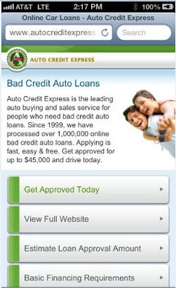 Questionable Credit Car Loans on the Go