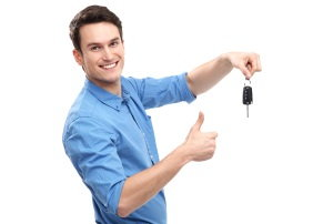 millennial, car keys, thumbs up
