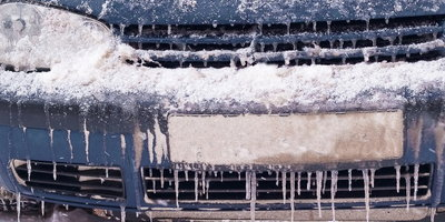 freezing weather, frozen car