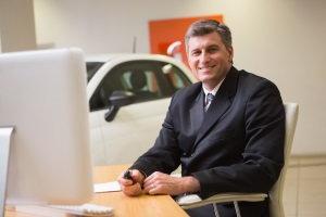 dealership desk, car salesman
