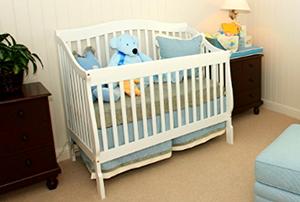 baby's crib in nursery