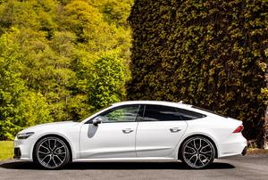 a white car