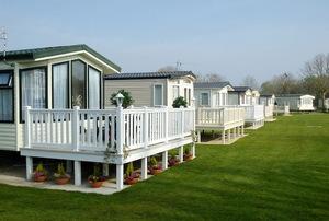 A mobile home park.
