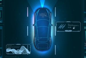 electric car status display screen