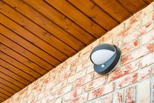 Motion sensors outside of a home.
