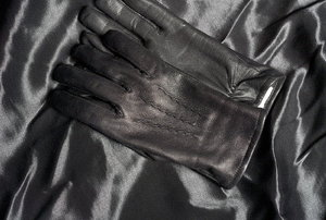 Leather items.