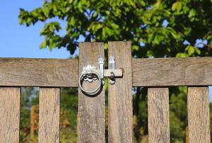 A wood gate.