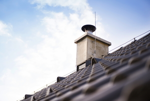 a chimney on a rooftop