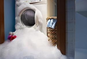 A leaking washing machine.