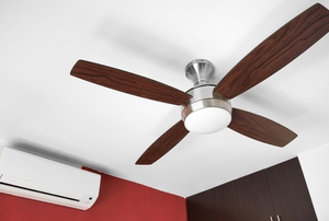 wall mounted air conditioner and ceiling fan