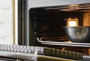 an open oven