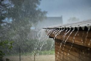 Rain on a roof.