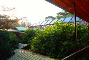 Solar powered hostel in Olympos Town, Turkey, heats all of its water using solar panels.