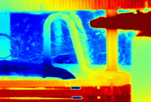 thermal imaging view of absorption refrigerator