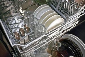 A full dishwasher