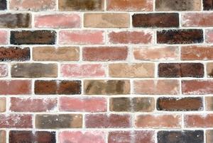 Multicolored brick wall