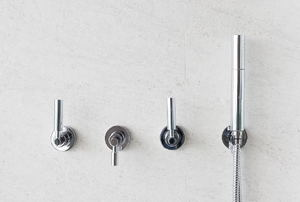 three handle faucet shower system