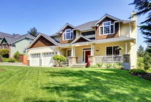 A suburban home.