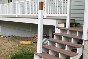 Deck stairs.