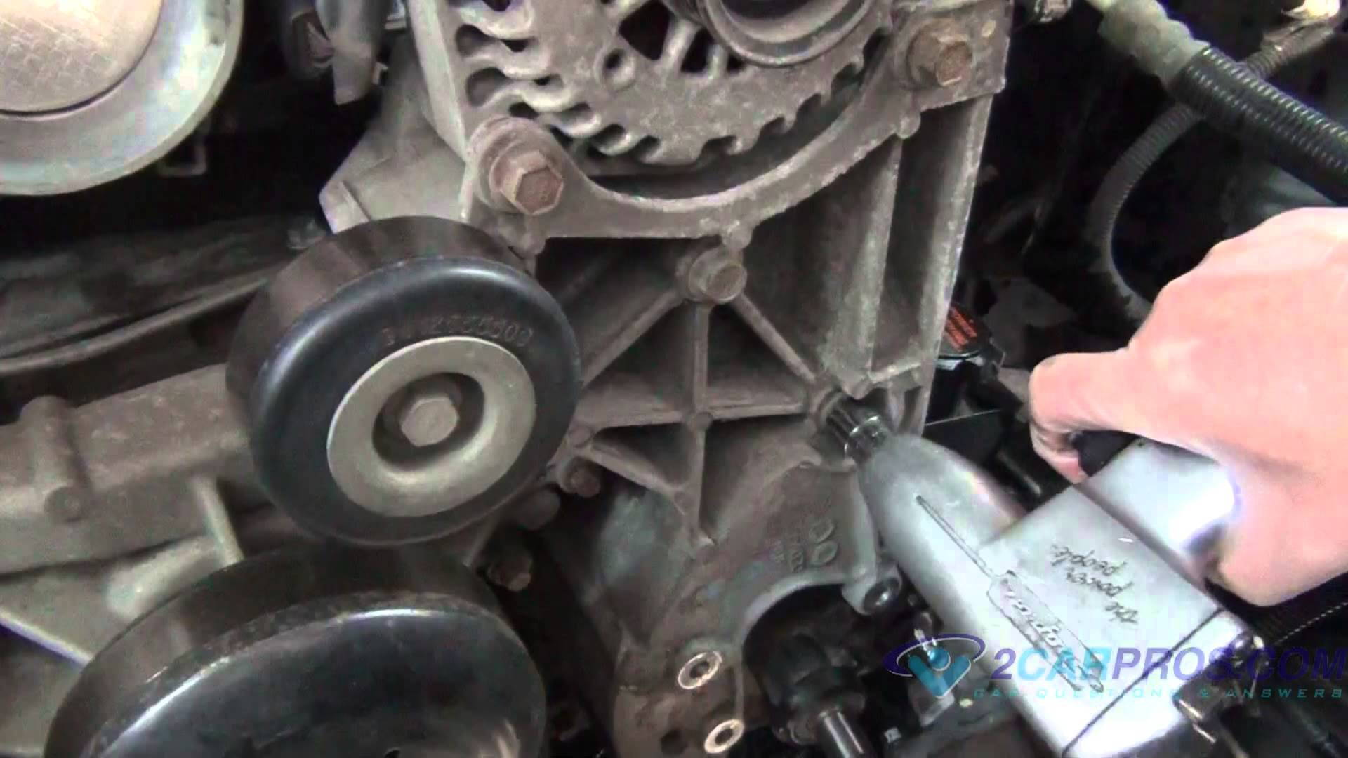 Replacing power steering pump