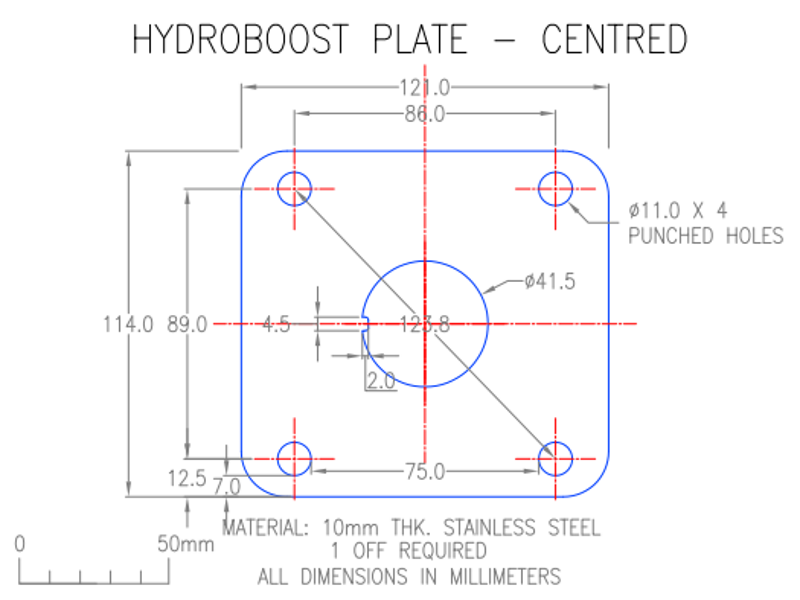 hydroboost system centered template