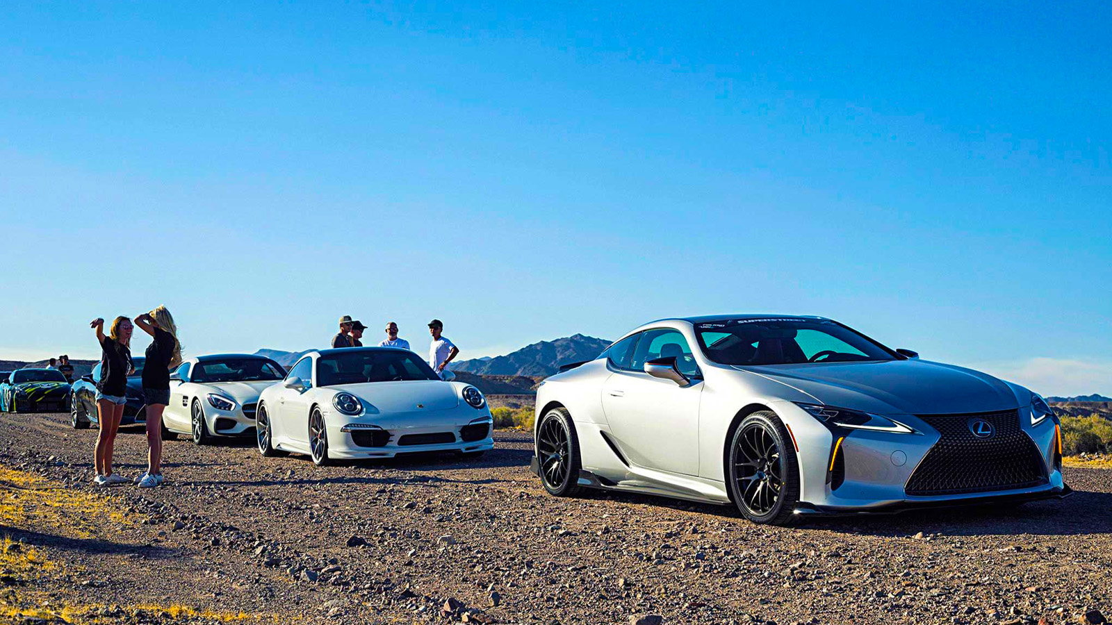LC500 Takes part in the Targa Trophy Rally