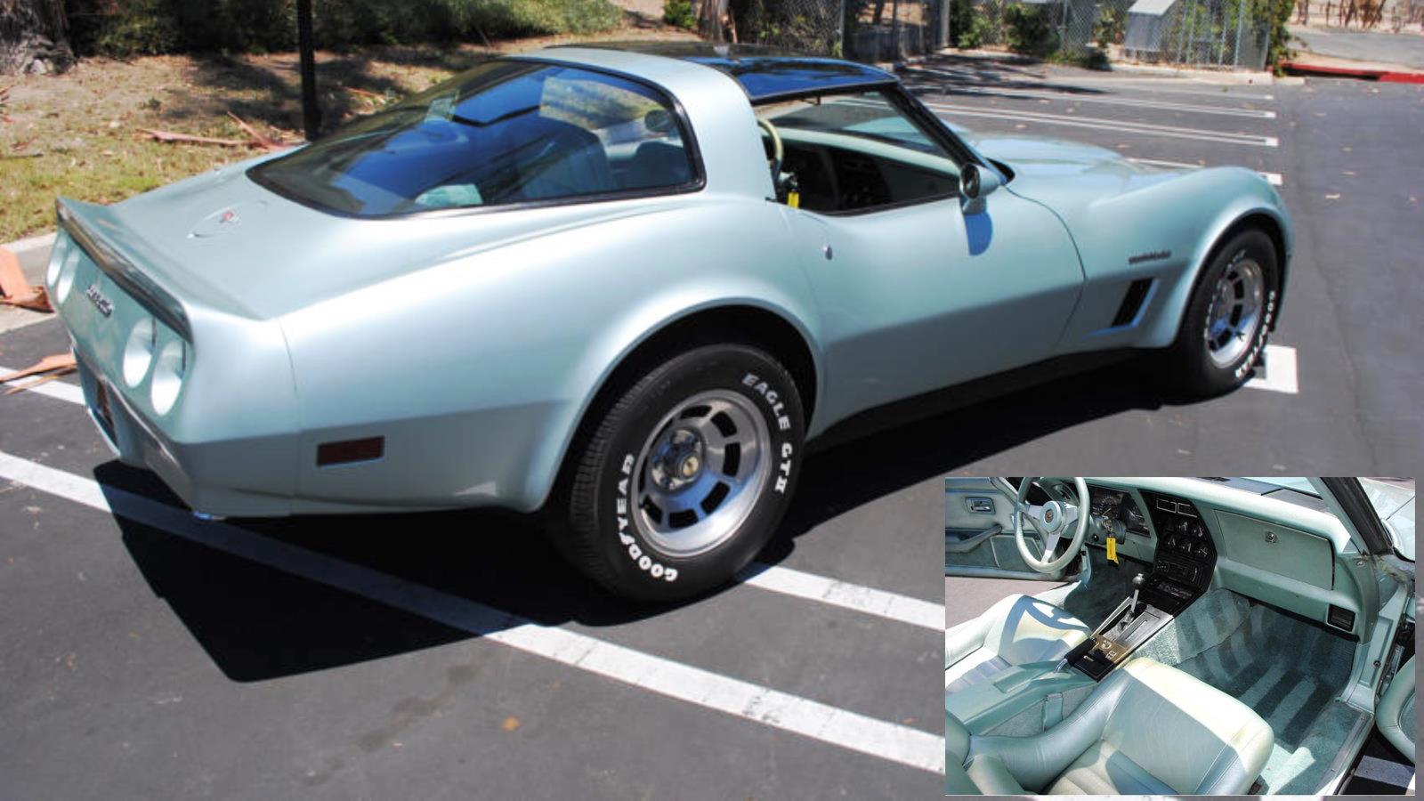 1982 Corvette in Silver Green