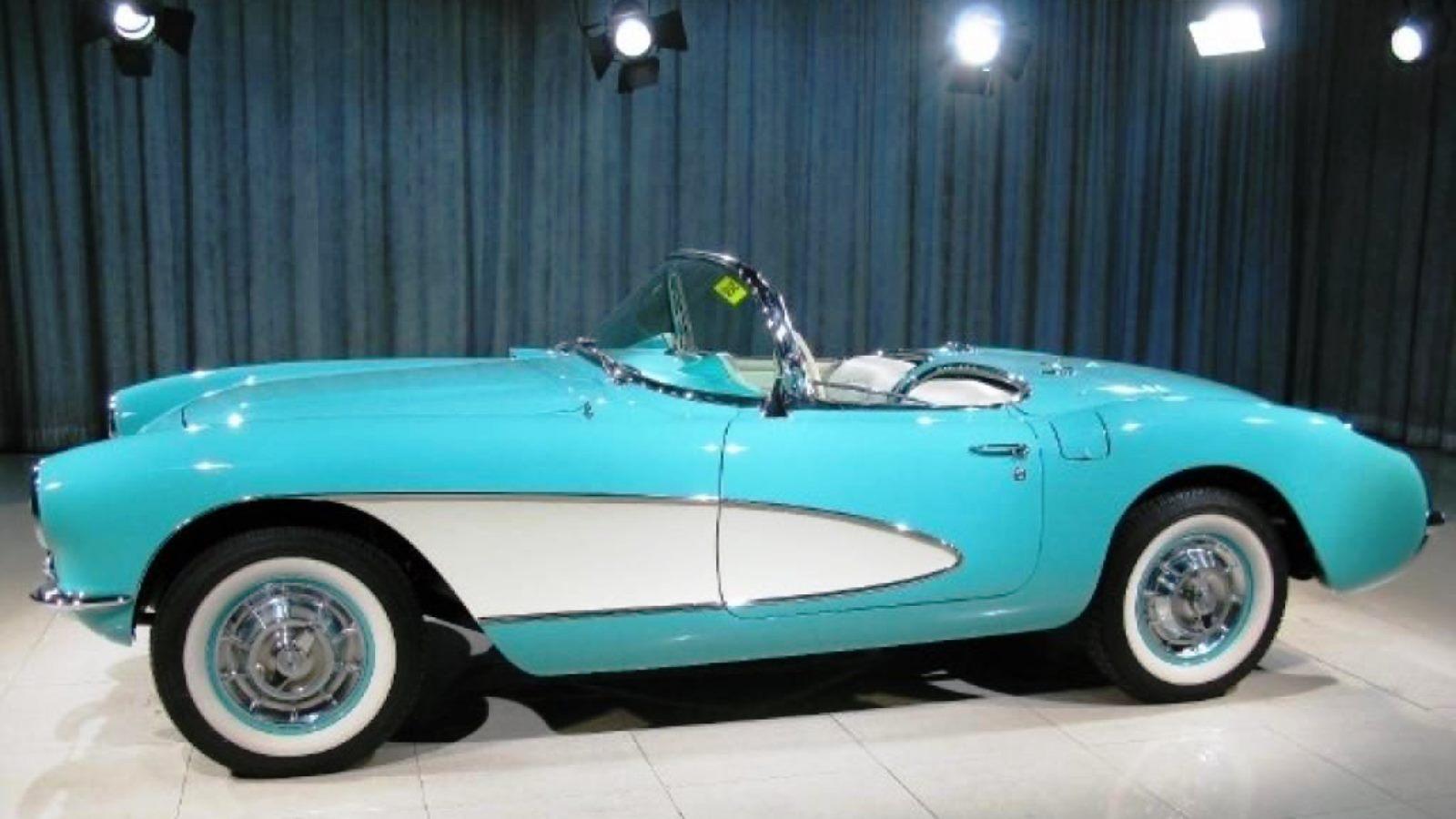 1957 Cascade Blue Corvette