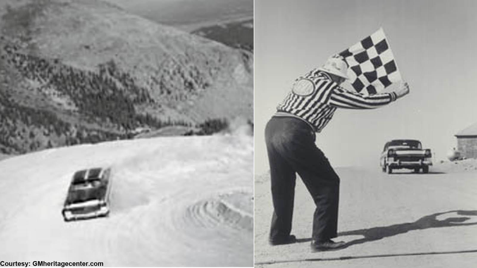 1956 Corvette Summits Pikes Peak