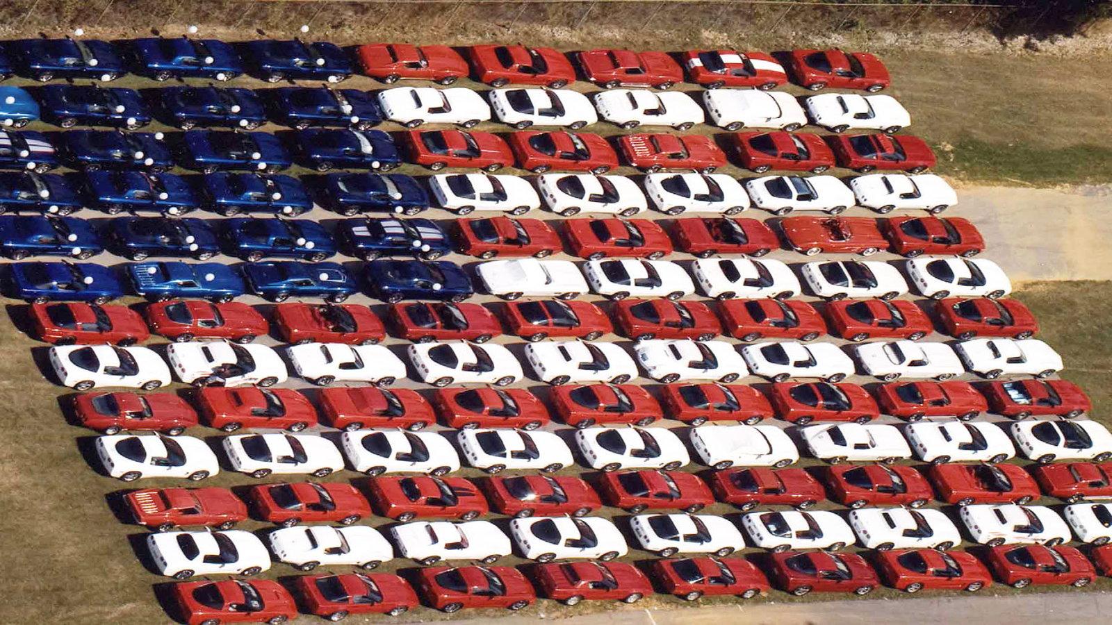 Carlisle Corvette American Flag