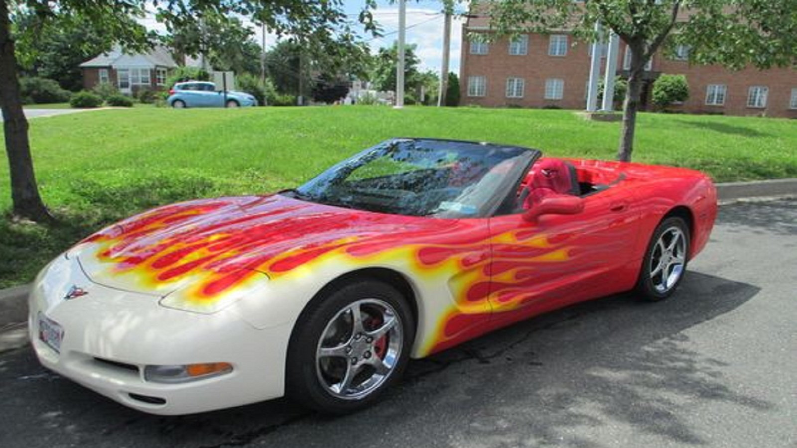 Burning up the road