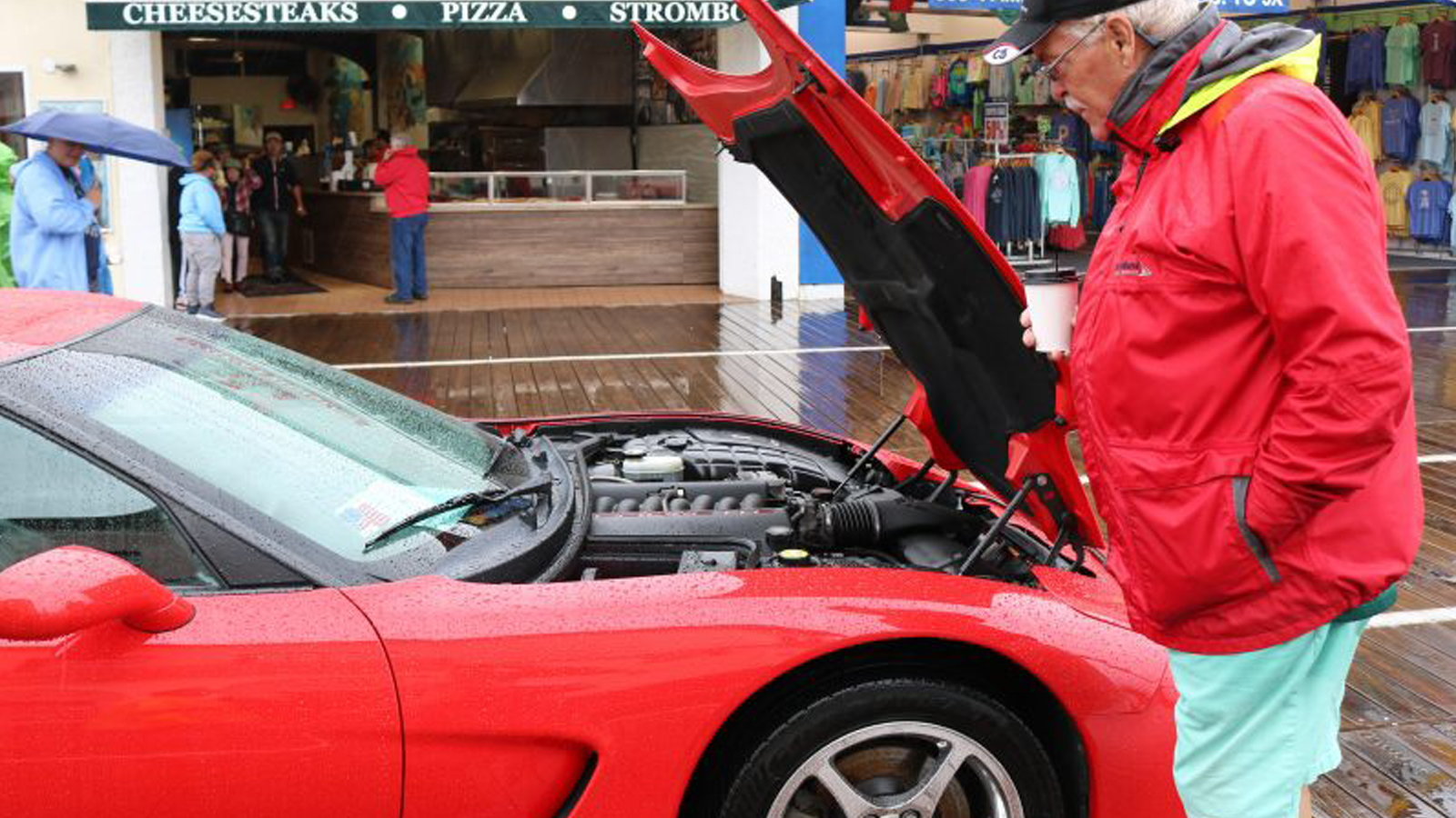 Ocean City Corvette Show On A Rainy Day Corvetteforum - Ocean city car show 2018