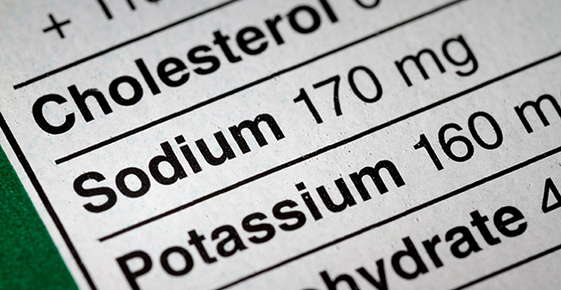 Image of a sodium nutrition label.