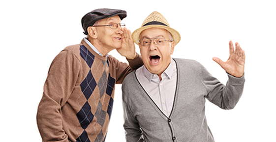 Image of two old men wearing glasses.