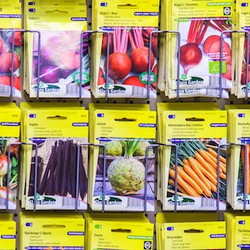 Seed rack at a store