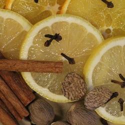 oranges, lemons, cinnamon, nutmeg and cloves