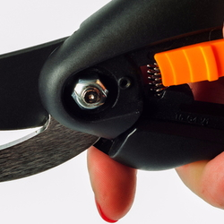 A pair of hand pruning shears.