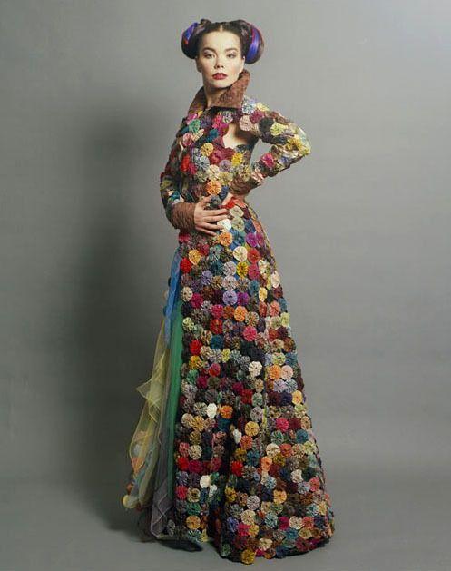 dress made from yo yos