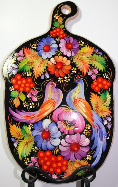 painted Russian trivet