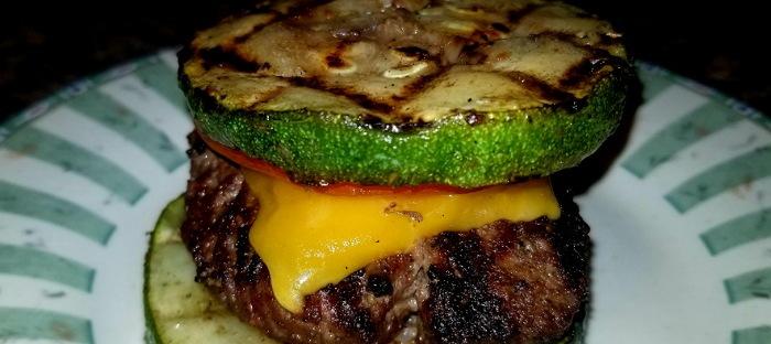 zucchini topped hamburger