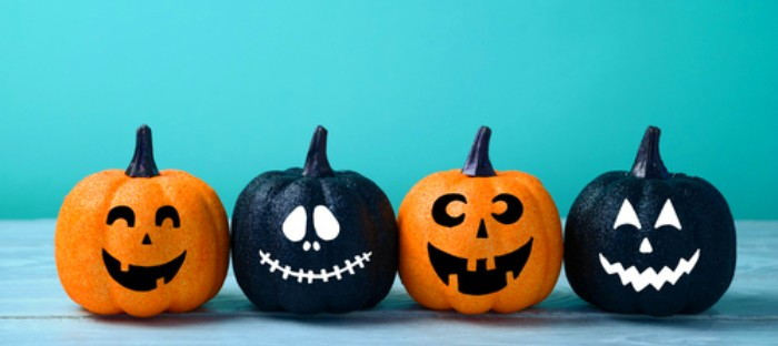 painted jack o lantern pumpkins