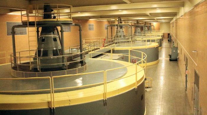 power plant inside Kentucky Dam