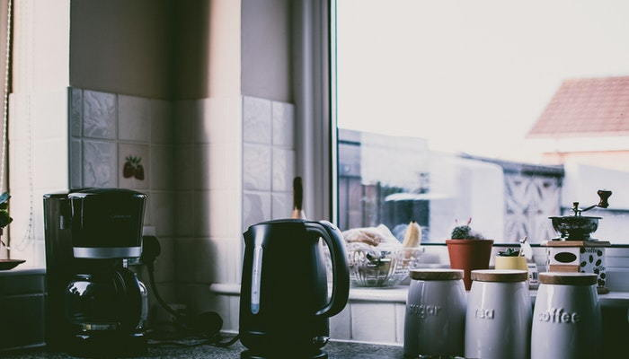 coffee pots on a counter