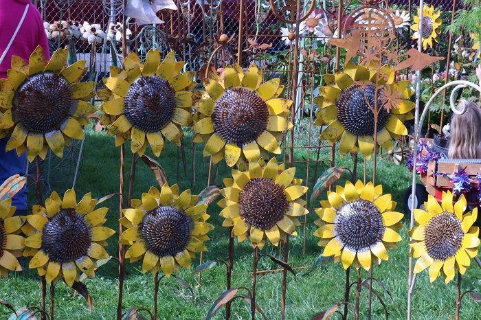metallic sunflowers