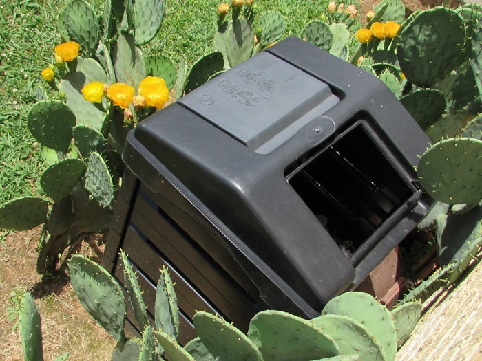 composter in the garden
