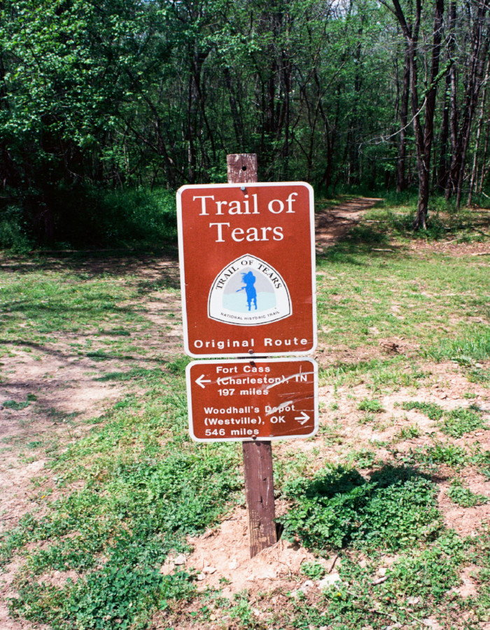trail marker for Trail of Tears