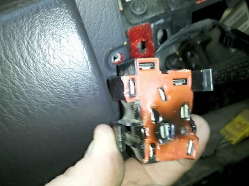 Melted Headlight Switch From Too Much