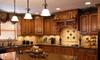 Kitchen cabinet moldings.