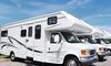 a line of recreational vehicles