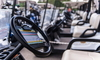 Row of golf carts